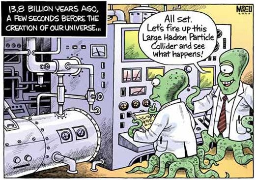 Large Hadron Collider - Cartoon